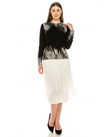 Knit top with silver detailing
