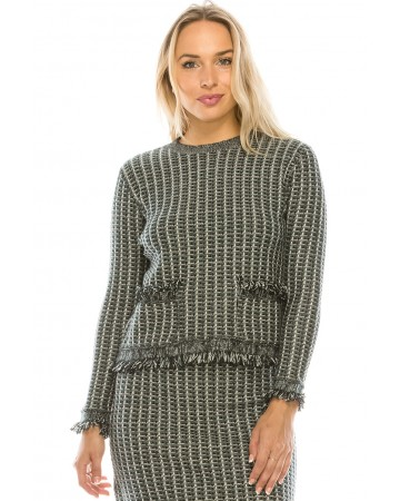 TWEED KNIT TOP