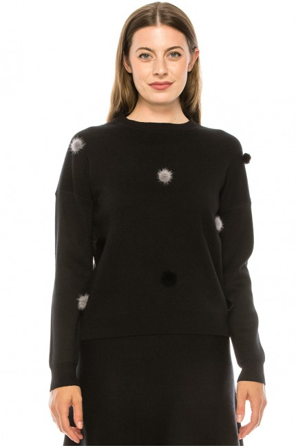 Sweater KA122-Black
