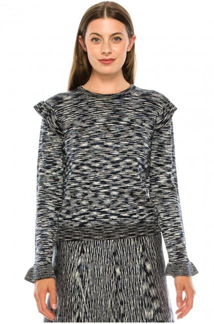 Blue Shoulder Knit