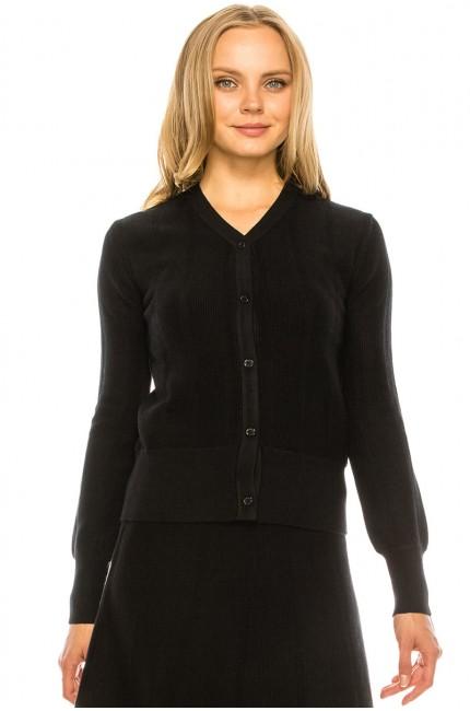 Black Soft Cardigan