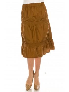 Ruched Midi Skirt Black