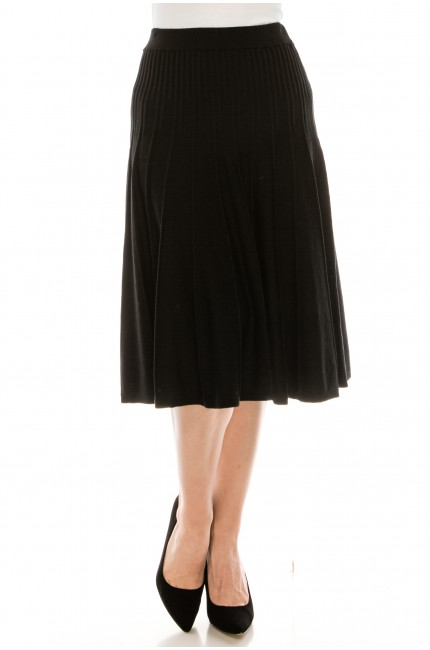 Small Pleated Black Skirt
