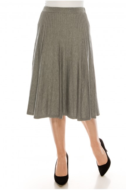 Small Pleated Grey Skirt