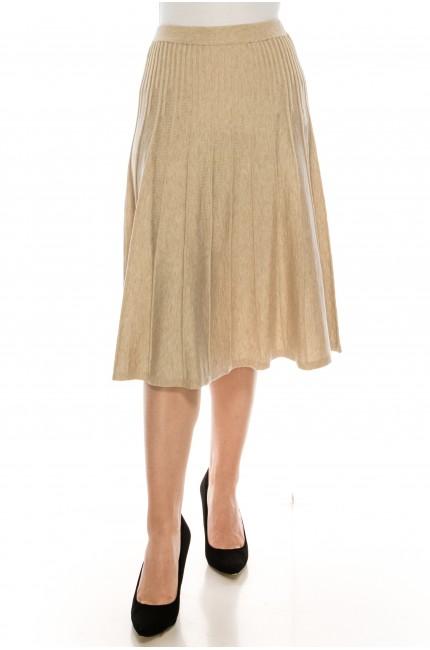 Small Pleated Oatmeal Skirt