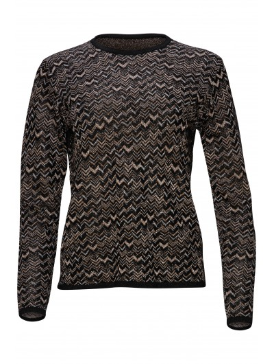 Metallic Zig-zag Knit Top