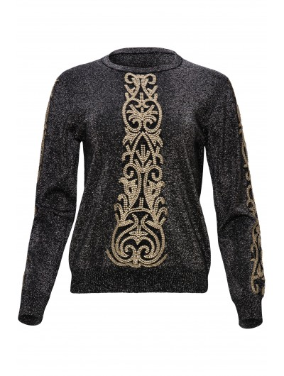Lurex Knit with Gold embroideries