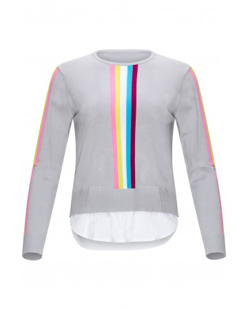 Rainbow striped Top with Insert