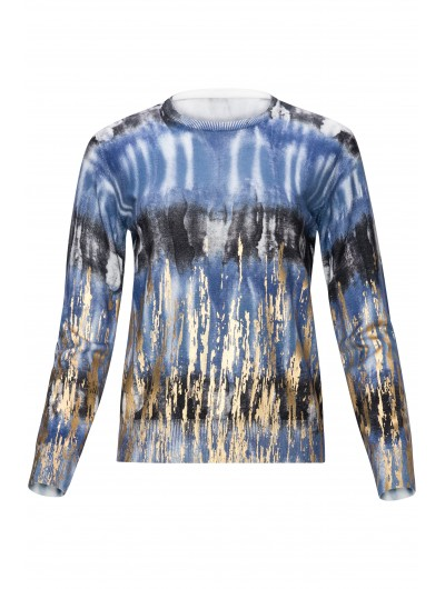 Tye-dye Top with gold foiling