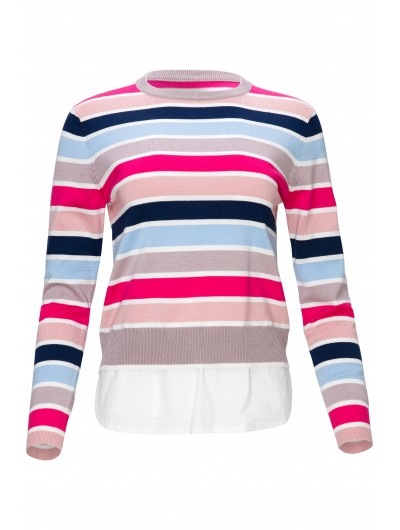 Striped Knit With Stickout