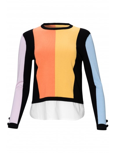 Color Block Top With Stickout