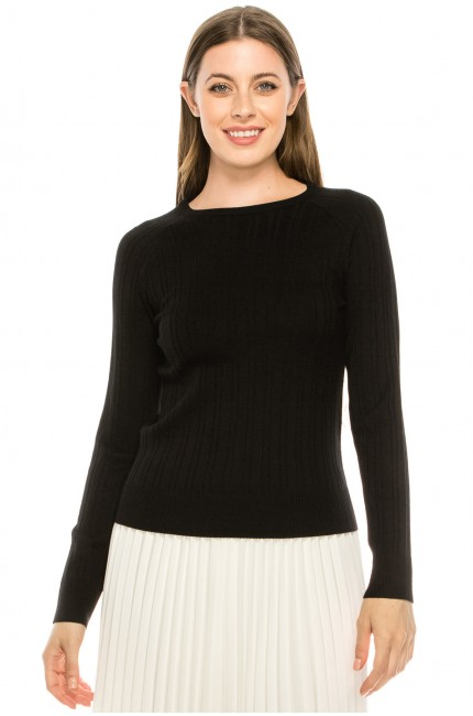 Classic Black Ribbed Top