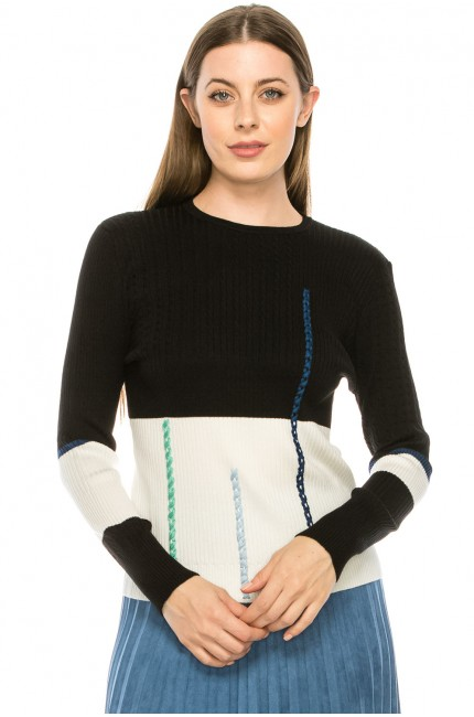 Piped Line Sweater