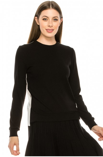 Two-Tone Split Top Black