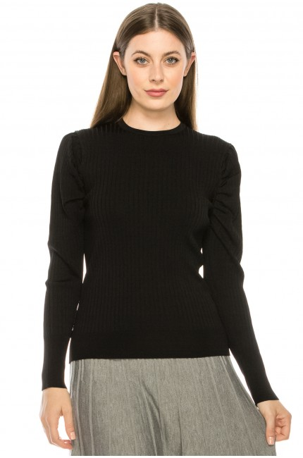 Black Puff Sleeve Shoulder