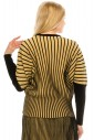 Dolman sleeve striped top