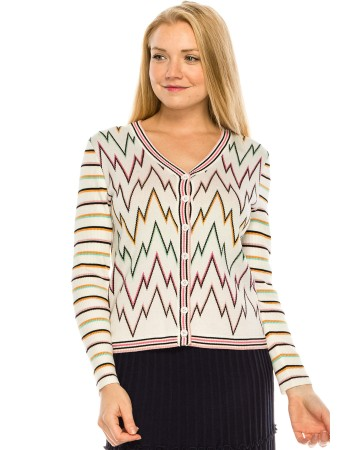 Colored Peaks Cardigan