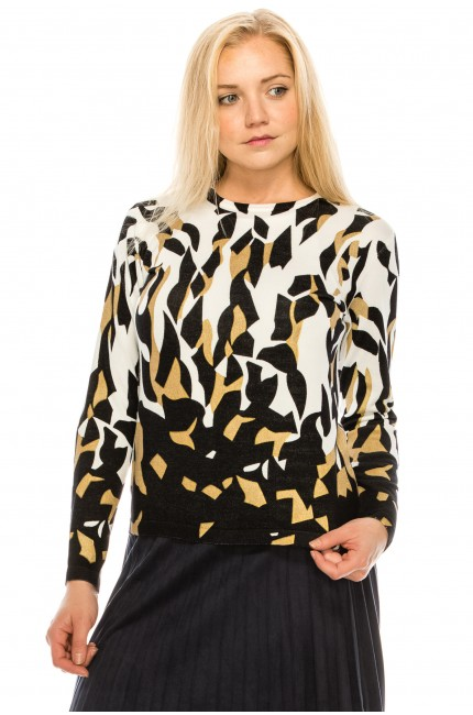 Abstract Cheetah Top