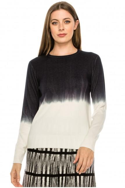 Black and White Tye-Dye Top