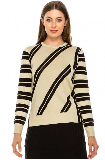 Diagonal Striped Top