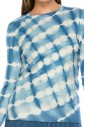 Light Blue Tye-Dye Top