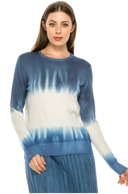 Blue Ombre Tye-Dye Top