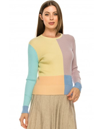 Ribbed Pastel Sweater