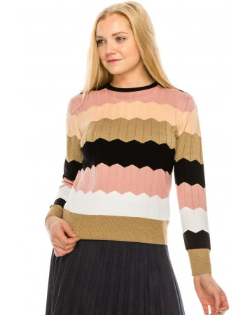 Colored Scalloped Sweater