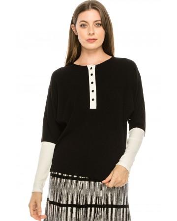 Henley T-shirt Black