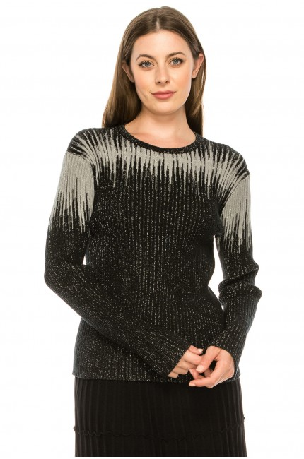 Abstract Drip Shoulder Sweater
