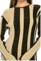 STRIPED RIBBED TOP