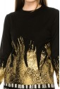 Gold Splatter Top