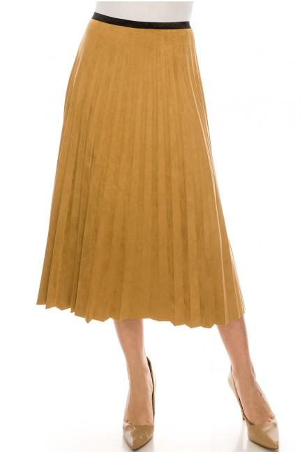 Camel Midi Skirt