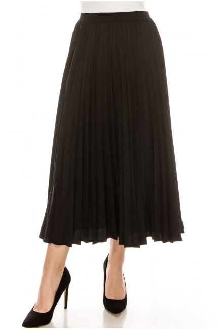 Midi Length Skirt Black