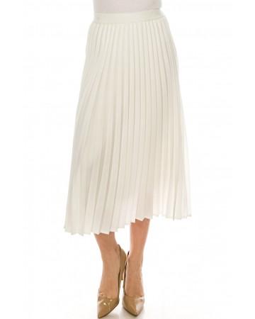 Midi Length Skirt White