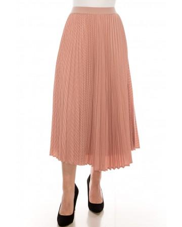 Pink Chiffon Midi Skirt