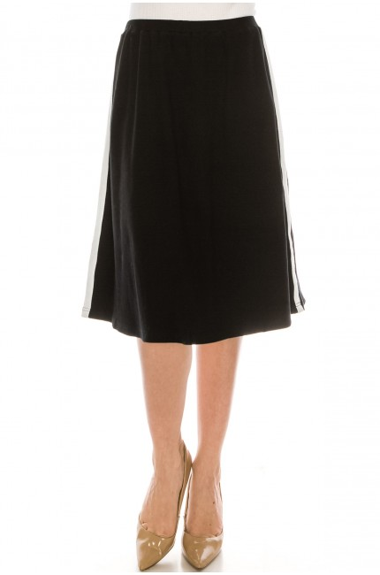 Side striped T-shirt Skirt