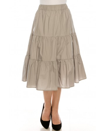 Ruched tiered skirt