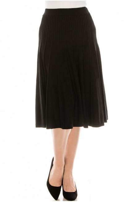 Small Pleated Black Skirt