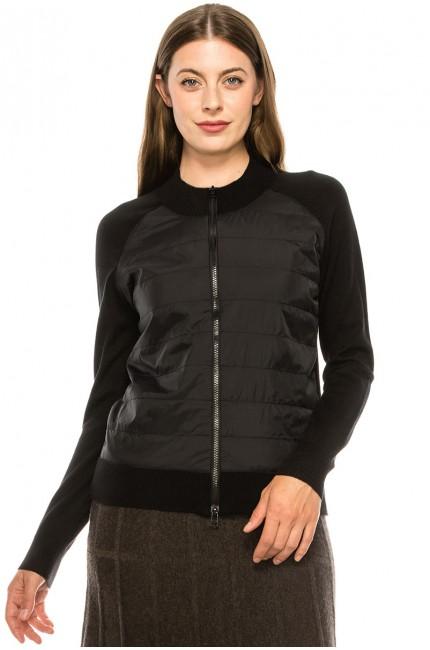 Black Zip Up Puffer Jacket