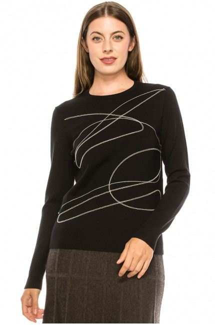 Black and White Abstract top