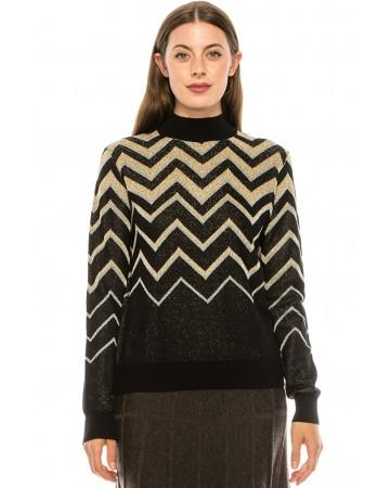 Glittered Chevron Sweater