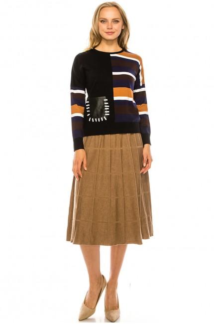 Side Stripe Sweater