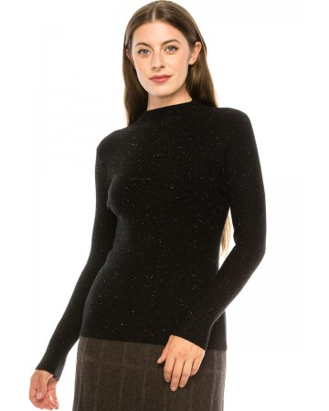 Ribbed Speckled Sweater