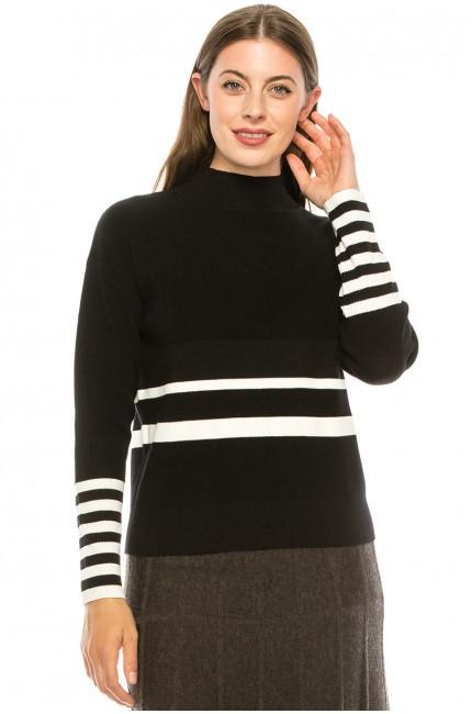 Cuff Stripe Sweater