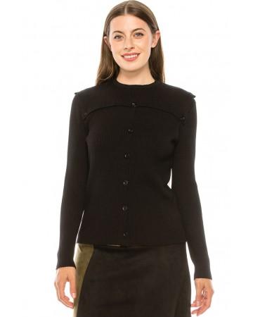 All Black Flap Sweater