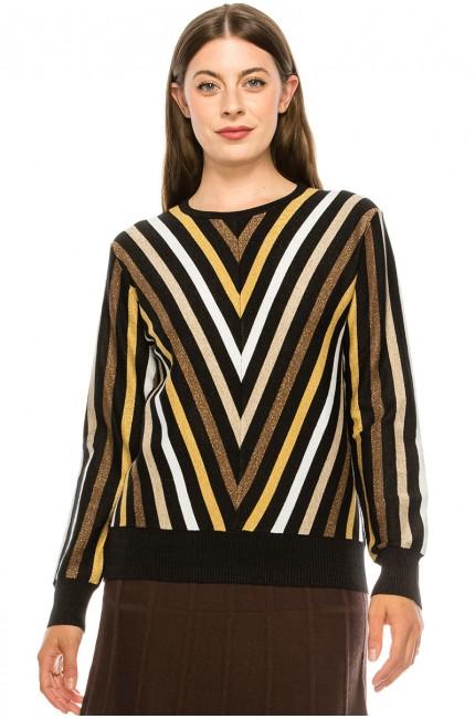 Multi V Sweater