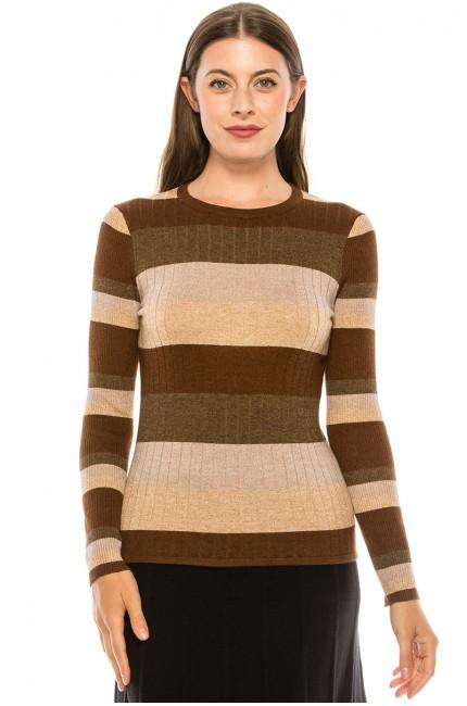 Neutral Striped Sweater