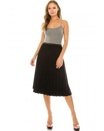 Black Suede Skirt