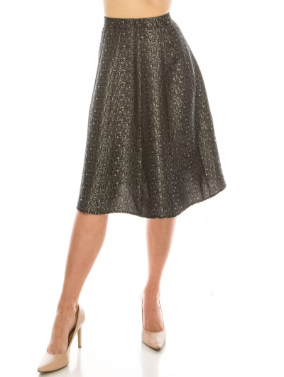 Jacquard paneled  skirt